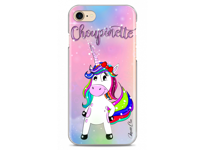 Coque iPhone 7/8 Licorne Choupinette design
