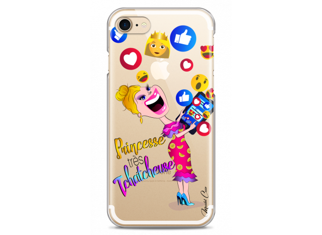 Coque iPhone 7Plus/8Plus Princesse très Tchatcheuse