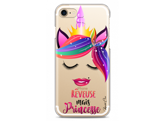Coque iPhone 7/8 Rêveuse mais Princesse