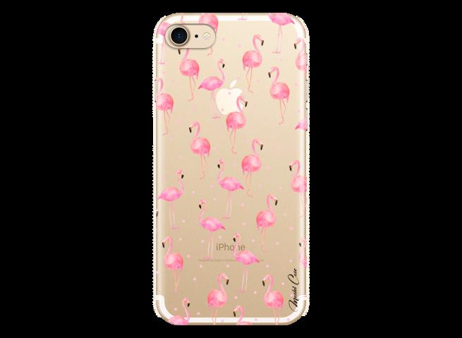 Coque iPhone 7/8 Summer flamingo pattern