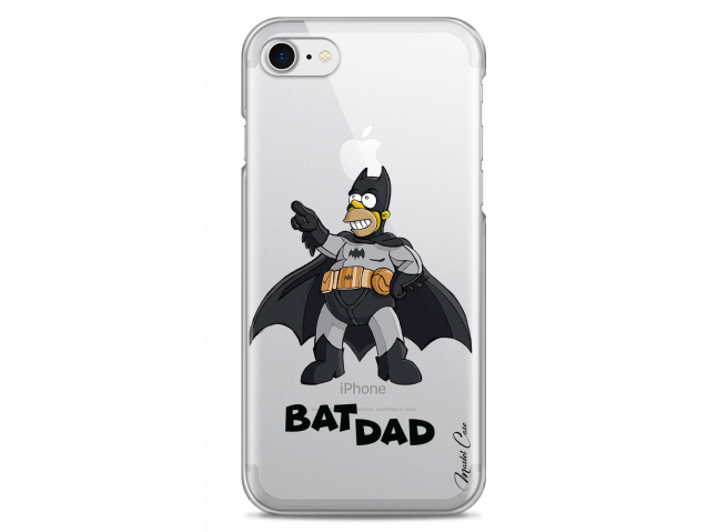 Coque iPhone 7/8 Super Bat Dad Simpson cartoon design