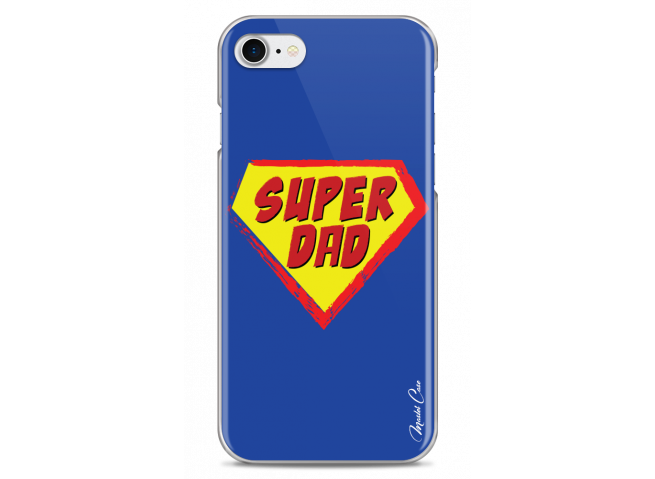 Coque iPhone 7/8 Super Dad - blue design