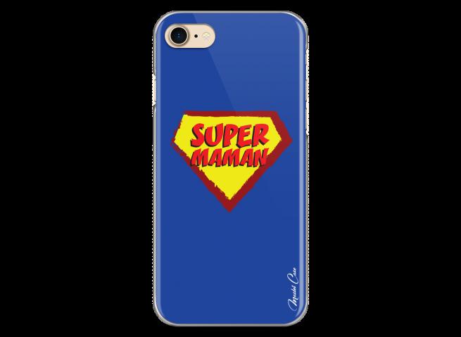 Coque iPhone 7Plus/8Plus Super Maman - blue design
