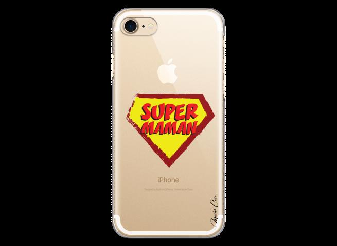 Coque iphone 7Plus/8Plus Super Maman - design