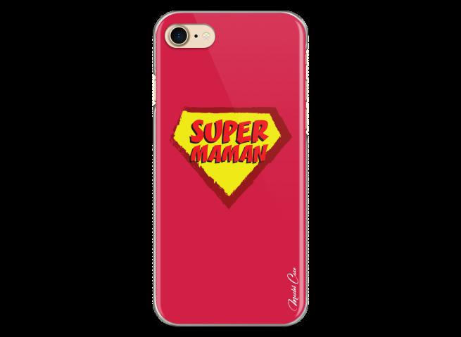 Coque iPhone 7Plus/8Plus Super Maman - red design