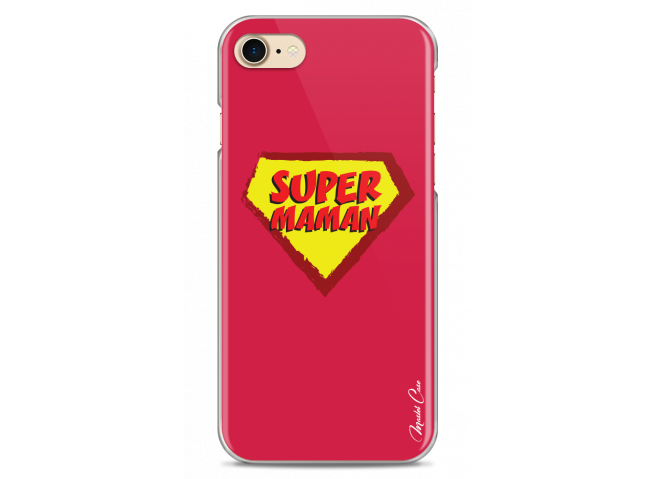 Coque iPhone 7/8 Super Maman - red design