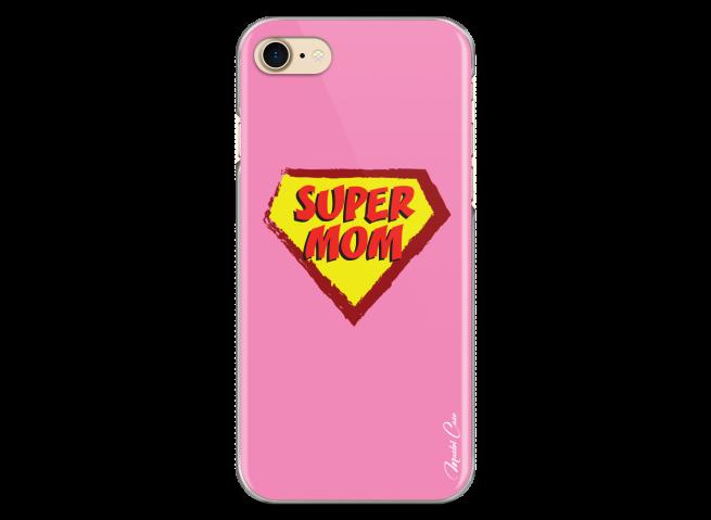 Coque iPhone 7Plus/8Plus Super Mom - pink design