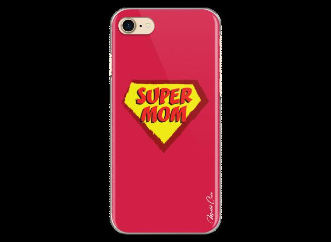 Coque iPhone 7/8 Super Mom - red design