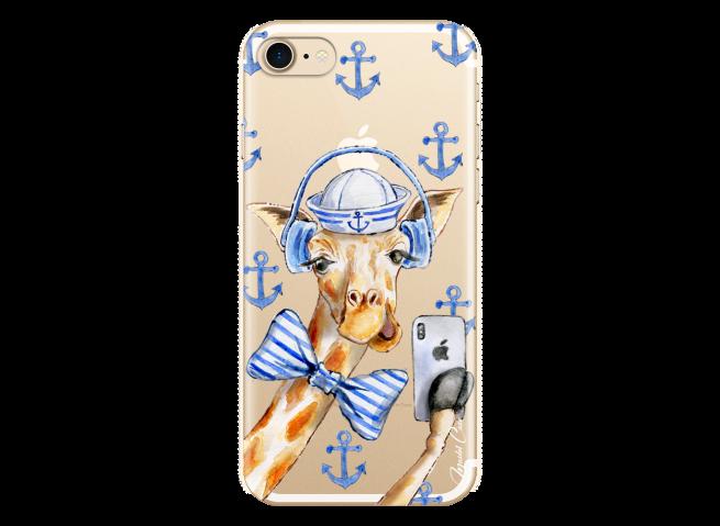Coque iPhone 7/8 Watercolor Marine Giraffe