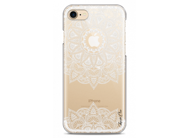 Coque iPhone 7/8 White Mandala design