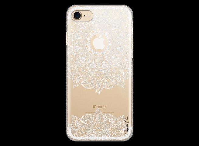 Coque iPhone 7Plus/8Plus White Mandala design