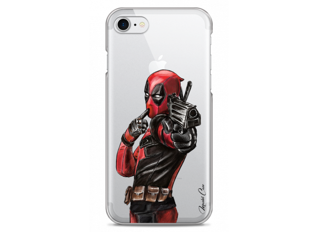 Coque iPhone 7/8 Deadpool 2 Watercolor design