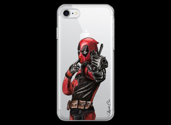 Coque iPhone 7Plus/8Plus Deadpool 2 Watercolor design