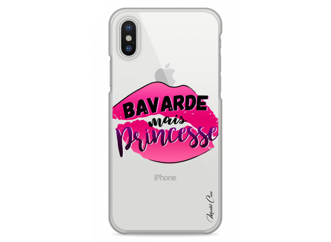 Coque iPhone XS MAX Bavarde mais Princesse