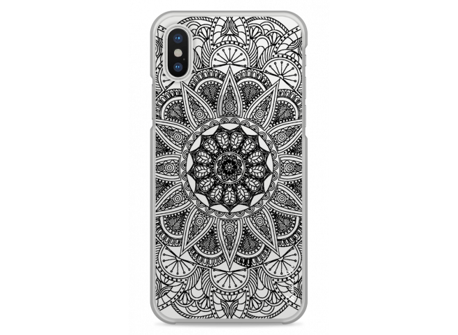 Coque iPhone X Black Mandala