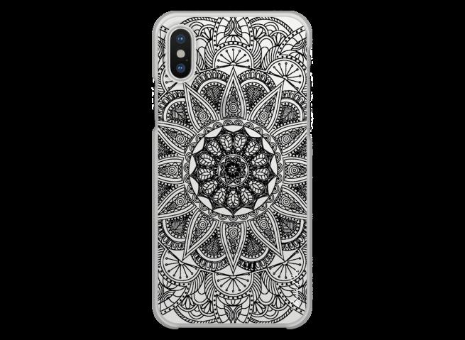 Coque iPhone XR Black Mandala