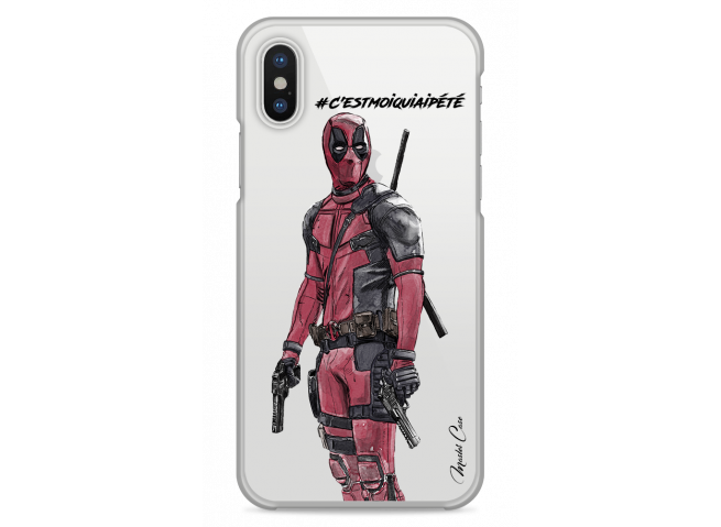Coque iPhone XS MAX Deadpool 2 - Message