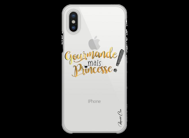 Coque iPhone XS MAX Gourmande mais Princesse