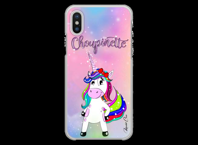 Coque iPhone XR Licorne Choupinette design