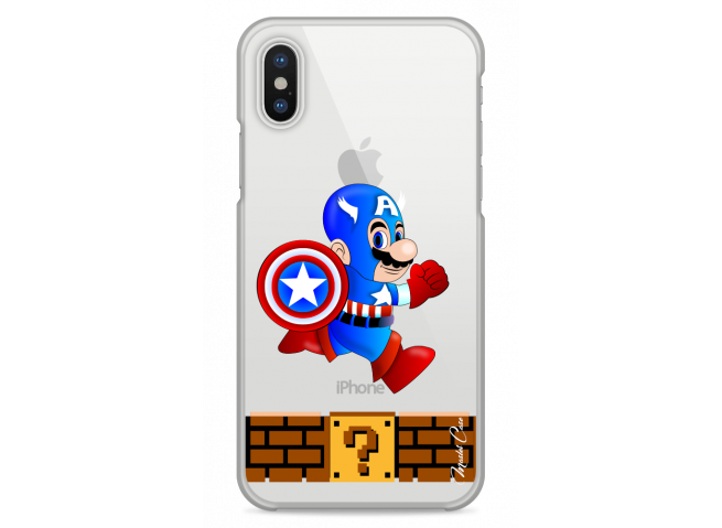 Coque iPhone XS MAX Mario Captain