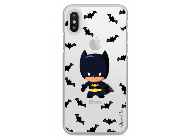 Coque iPhone XS MAX  Mini Batman cartoon design