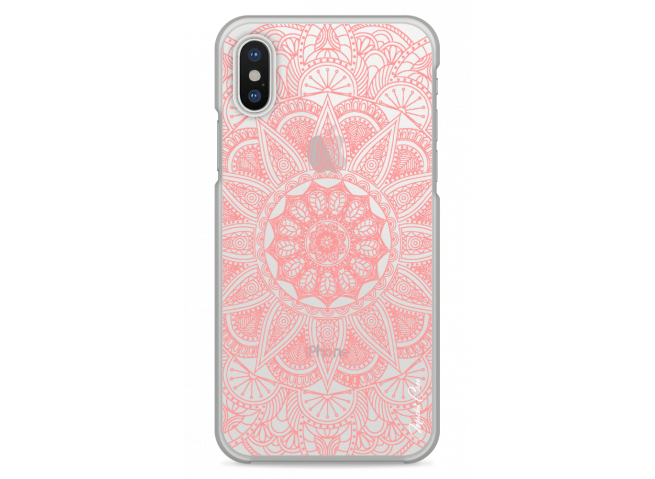 Coque iPhone X Pink Mandala