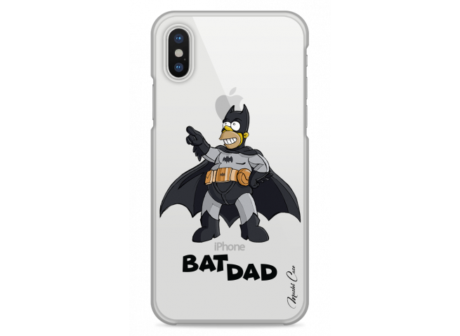 Coque iPhone X Super Bat Dad Simpson cartoon design