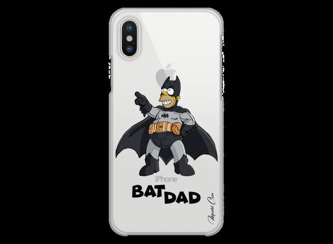 Coque iPhone XS MAX Super Bat Dad Simpson cartoon design