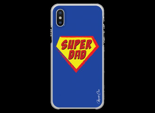 Coque iPhone XR Super Dad - blue design