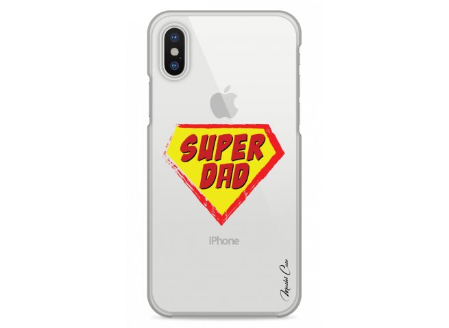Coque iPhone XR Super Dad - design