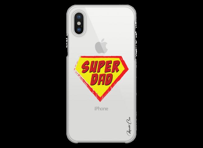 Coque iPhone XS MAX Super Dad - design