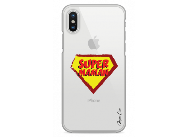 Coque iPhone X Super Maman - design