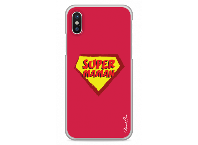 Coque iPhone XR Super Maman - red design