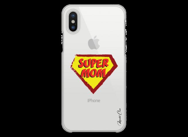 Coque iPhone X Super Mom - design