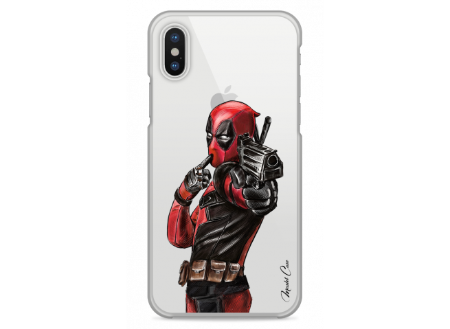 Coque iPhone X Deadpool 2 Watercolor design