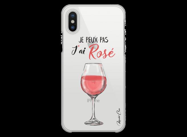 Coque iPhone X J'ai rosé