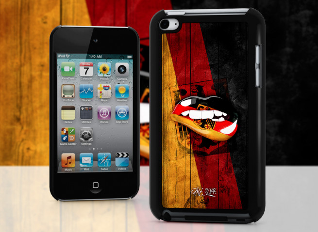 Coque iPod Touch 4 Lips Coupe du Monde 2014-Allemagne