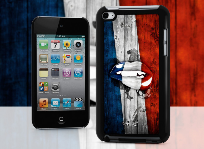 Coque iPod Touch 4 Lips Coupe du Monde 2014-France