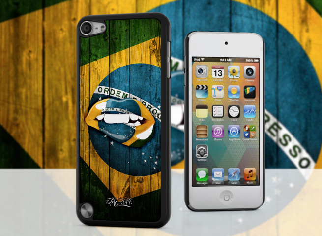 Coque iPod Touch 5 Lips Coupe du Monde 2014-Bresil