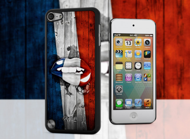 Coque iPod Touch 5 Lips Coupe du Monde 2014-France
