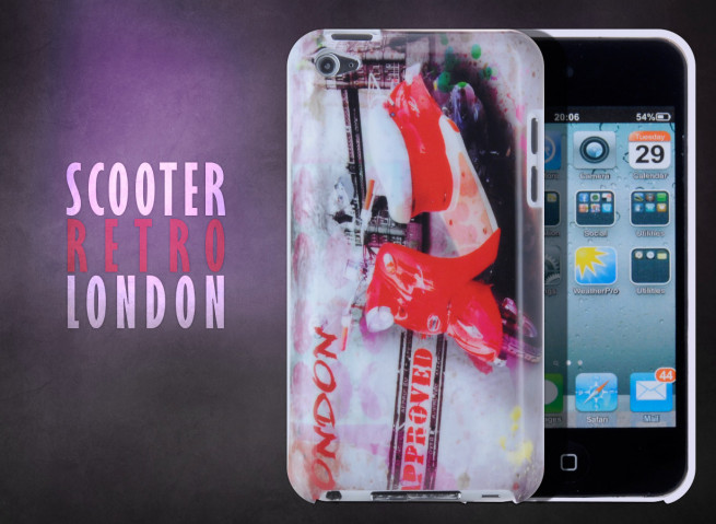 Coque iPod Touch 4 Retro Scooter London