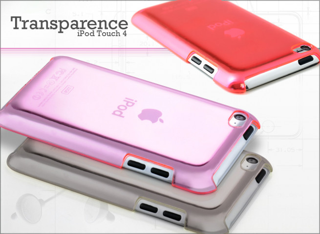 Coque iPod Touch 4 Transparence Color