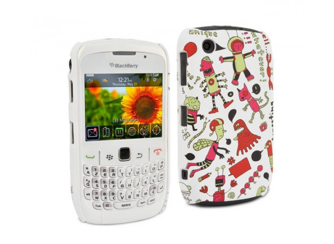 Coque Blackberry Curve 8520 Doodle motif fantastique by Muvit