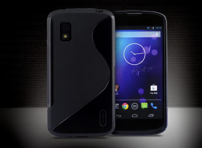 Coque LG Nexus 4 Silicone Grip Noir