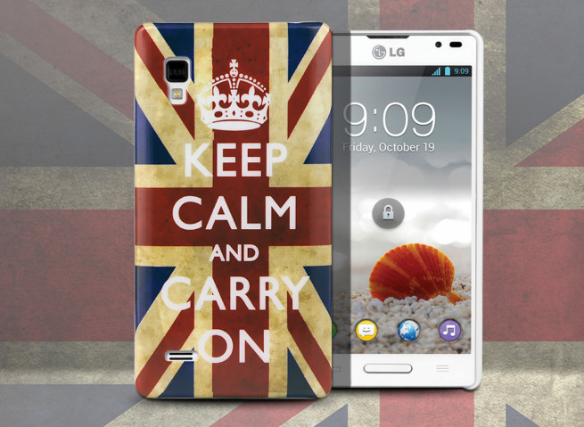 Coque LG Optimus L9 UK Keep Calm