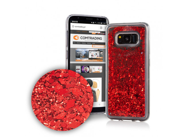Coque Samsung Galaxy S8 Liquid-Rouge