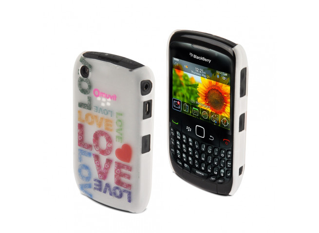 Coque Blackberry Curve 8520 Love by Muvit