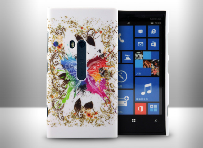 Coque Nokia Lumia 920 Rainbow Butterfly