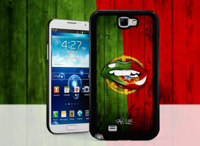 Coque Samsung Galaxy Note 2 Lips Coupe du Monde 2014-Portugal