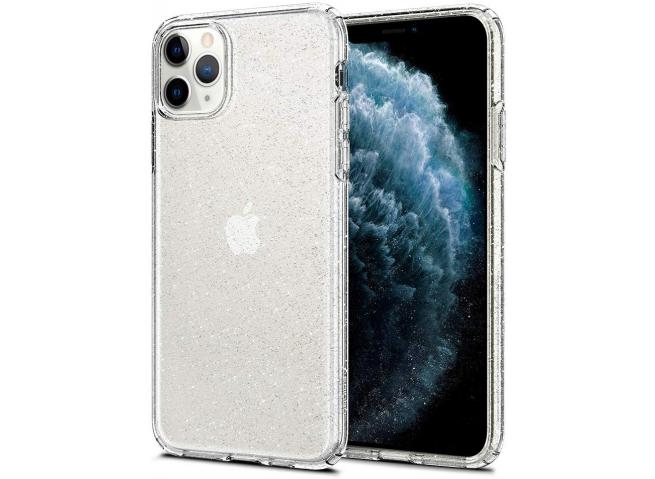 Coque iPhone 11 Pro Max No Shock Glitter-Silver
